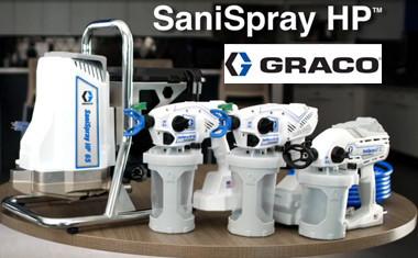 Первое в отрасли безвоздушное оборудование высокой производительности для санитарной обработки, дезинфекции и устранения запахов.