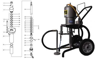 ASP-451 Contracor (насос и ремкомплект)